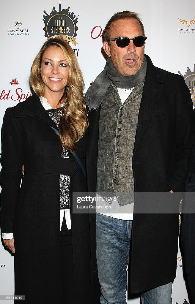 <a gi-track='captionPersonalityLinkClicked' href=/galleries/search?phrase=Kevin+Costner&family=editorial&specificpeople=201719 ng-click='$event.stopPropagation()'>Kevin Costner</a> and wife <a gi-track='captionPersonalityLinkClicked' href=/galleries/search?phrase=Christine+Baumgartner&family=editorial&specificpeople=212876 ng-click='$event.stopPropagation()'>Christine Baumgartner</a> attend the 2014 Leigh Steinberg Super Bowl Party at 230 Fifth Avenue on February 1, 2014 in New York City.