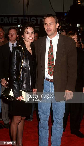 Kevin Costner and wife Cindy during 'JFK' Los Angeles Premiere at Mann's Village Theater in Westwood California United States