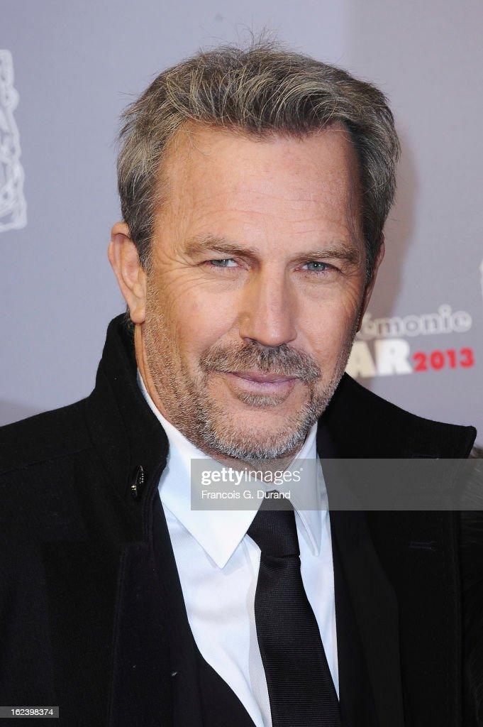Kevin Costner arrives at Cesar Film Awards 2013 at Theatre du Chatelet on February 22, 2013 in Paris, France.