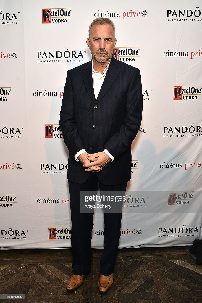 Kevin Costner attends cinema prive And PANDORA Jewelry Host A Special Screening Of 'Black Or White' on November 17, 2014 in West Hollywood, California.