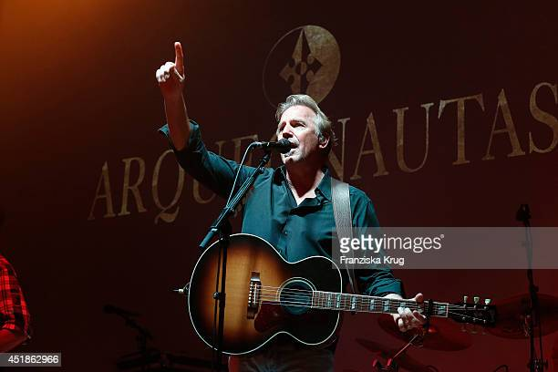 Kevin Costner attends the Arqueonautas Presents Kevin Costner Music Meets Fashion at Spindler Klatt on July 08 2014 in Berlin Germany