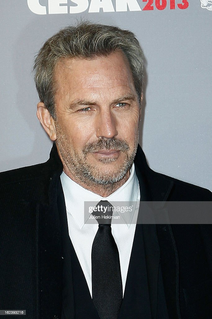<a gi-track='captionPersonalityLinkClicked' href=/galleries/search?phrase=Kevin+Costner&family=editorial&specificpeople=201719 ng-click='$event.stopPropagation()'>Kevin Costner</a> attends the Cesar Film Awards 2013 at Theatre du Chatelet on February 22, 2013 in Paris, France.
