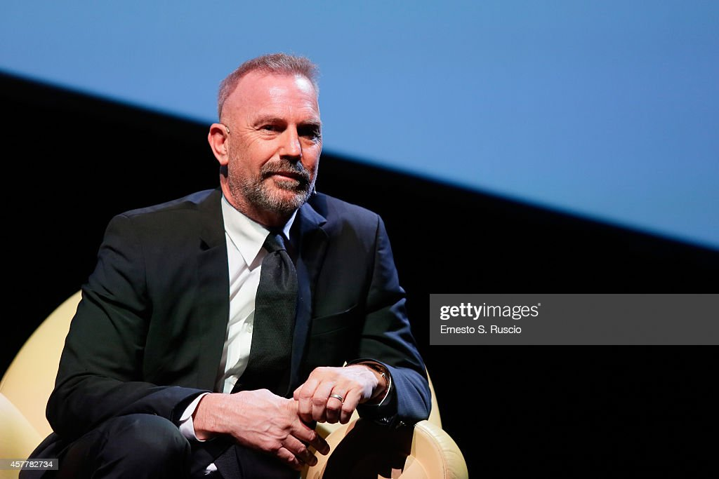 Kevin Costner attends the Meet The Audience and Unicef Plate QA during the 9th Rome Film Festival on October 24 2014 in Rome Italy