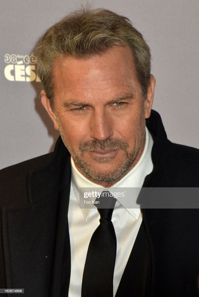 Kevin Costner attends the Red Carpet Arrivals - Cesar Film Awards 2013 at Theatre du Chatelet on February 22, s2013 in Paris, France.