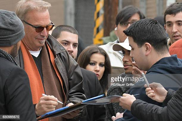 Kevin Costner is seen arriving at Kimmel on January 04 2017 in Los Angeles California