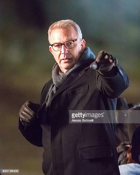 Kevin Costner is seen filming 'Molly's Game' in Central Park on January 31 2017 in New York New York