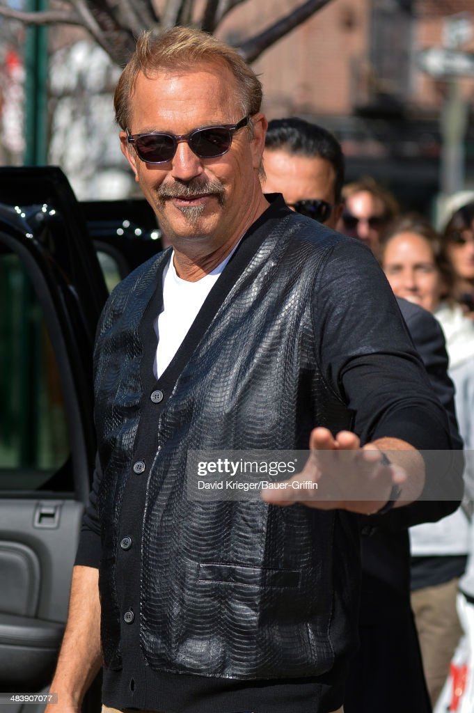Kevin Costner is seen on April 10, 2014 in New York City.