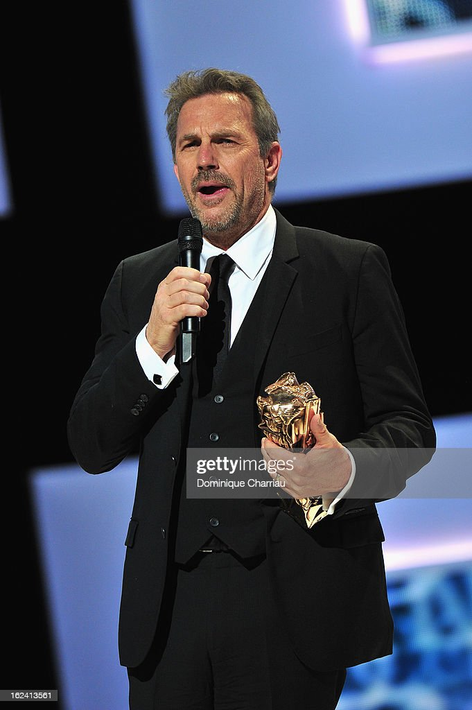 Kevin Costner receives the Cesar of Honor during the 37th Cesar Film Awards Cesar Film Awards 2013 at Theatre du Chatelet on February 22, 2013 in Paris, France.