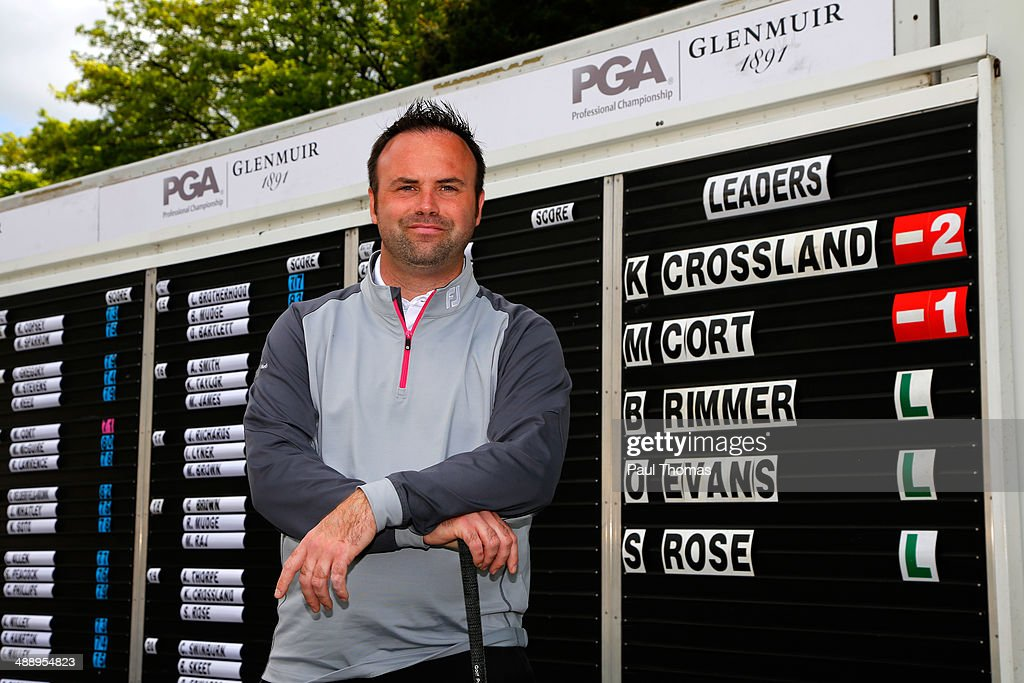 Kevin Crossland of Worksop Golf Club poses for a photograph during the Glenmuir PGA Professional Championship Midlands Regional Qualifier at Little Aston Golf Club on May 9, 2014 in Sutton Coldfield, England.