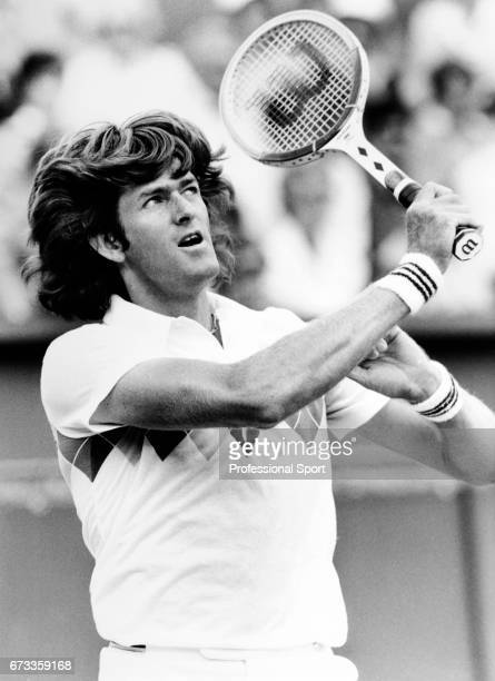 Kevin Curren of South Africa in action during the Stella Artois Tennis Championships held at the Queens Club in London circa June 1984