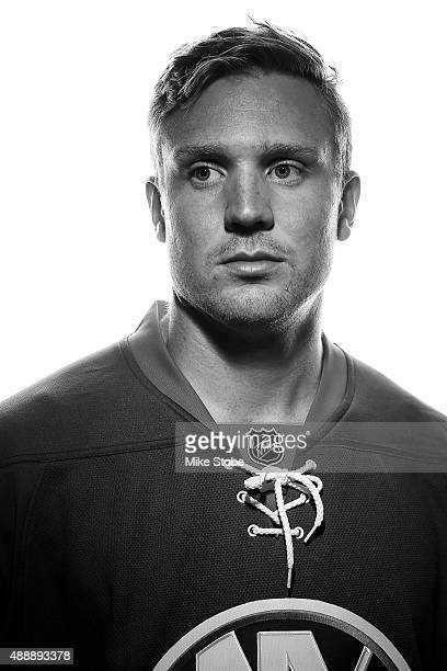 Kevin Czuczman of the New York Islanders poses for a portrait on September 17 2015 at the Nassau Coliseum in Uniondale New York