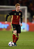Kevin De Bruyne of Belgium in action during the international friendly match between Belgium and Italy at King Baudouin Stadium on November 13 2015...