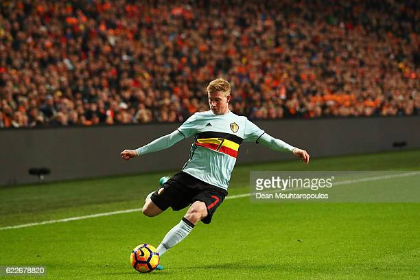 Kevin De Bruyne of Belgium in action during the international friendly match between Netherlands and Belgium at Amsterdam Arena on November 9 2016 in...
