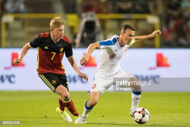 Kevin de Bruyne of Belgium Vladimir Darida of Czech Republicduring the friendly match between Belgium and Czech Republic on June 05 2017 at the...