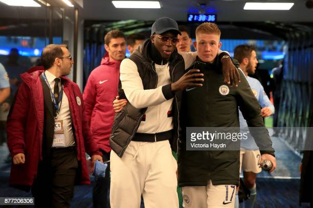 Kevin De Bruyne of Manchester City celebrates in the tunnel after the UEFA Champions League group F match between Manchester City and Feyenoord at...