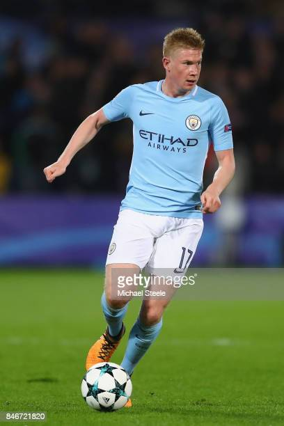 Kevin De Bruyne of Manchester City during the UEFA Champions League group F match between Feyenoord and Manchester City at Feijenoord Stadion on...