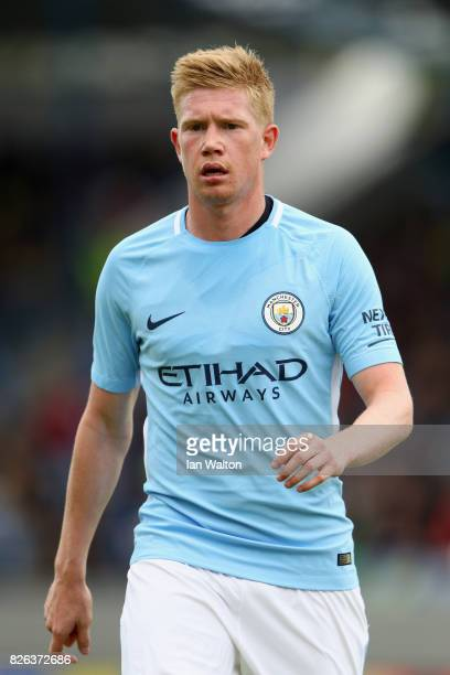 Kevin De Bruyne of Manchester City in action during a Pre Season Friendly between Manchester City and West Ham United at the Laugardalsvollur stadium...