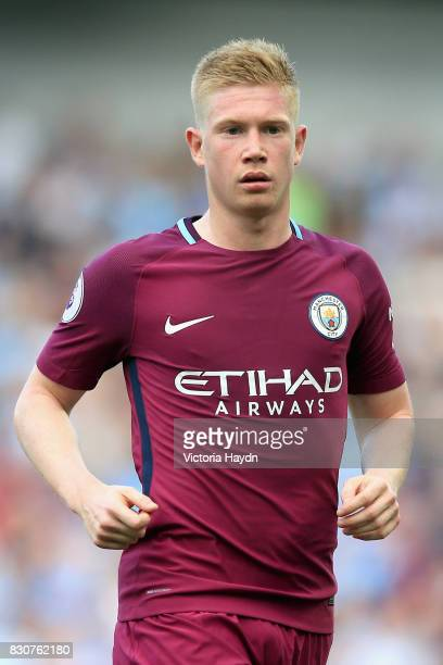 Kevin De Bruyne of Manchester City looks on during the Premier League match between Brighton and Hove Albion and Manchester City at the Amex Stadium...