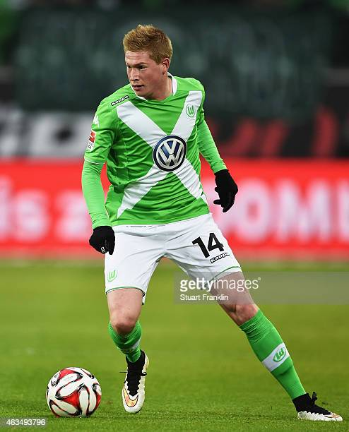 Kevin De Bruyne of Wolfsburg in action during the Bundesliga match between VfL Wolfsburg and 1899 Hoffenheim at Volkswagen Arena on February 7 2015...
