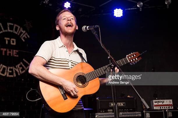 Kevin Devine performs on stage at Brudenell Social Club on August 4 2014 in Leeds United Kingdom