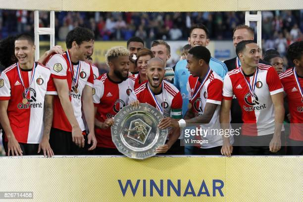Kevin Diks of Feyenoord Eric Botteghin of Feyenoord Tonny Vilhena of Feyenoord Jeremiah St Juste of Feyenoord Susila Cruijff keeper Brad Jones of...