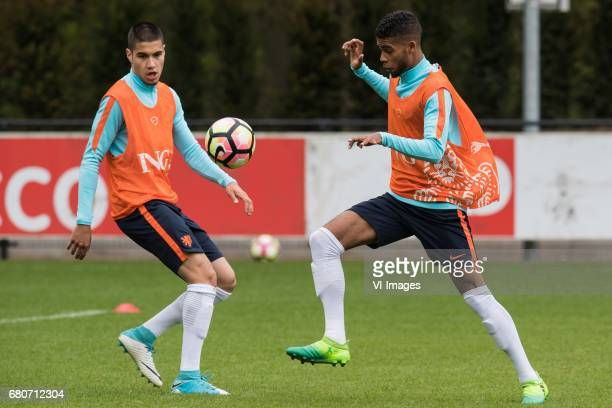 Kevin Diks of Netherland U23 Jeremiah St Juste of Netherland U23during a training session of Netherlands U21 at KNVB Campus on May 09 2017 in Zeist...