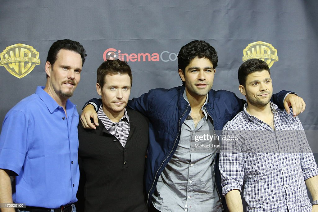 Kevin Dillon, Adrian Grenier, Kevin Connolly and Jerry Ferrara arrive at 2015 CinemaCon - Warner Bros. Presents The Big Picture held at Caesars Palace Resorts and Casino on April 21, 2015 in Las Vegas, Nevada.