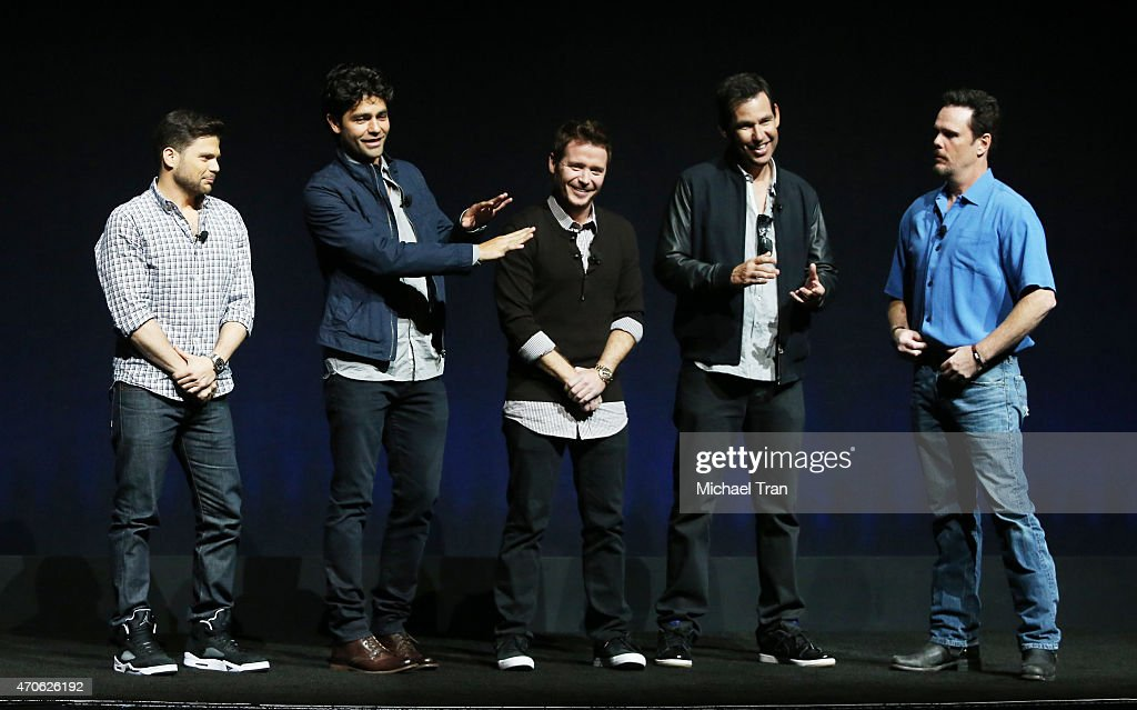 Kevin Dillon, Adrian Grenier, Kevin Connolly, Doug Ellin and Jerry Ferrara onstage at 2015 CinemaCon - Warner Bros. Presents The Big Picture held at Caesars Palace Resorts and Casino on April 21, 2015 in Las Vegas, Nevada.