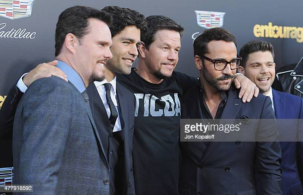 Kevin Dillon Adrian Grenier Mark Wahlberg and Jeremy Piven attend at the Los Angeles Premiere 'Entourage' at Regency Village Theatre on June 1 2015...