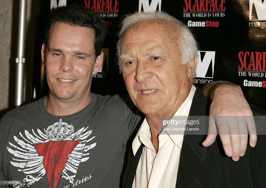 Kevin Dillon and Robert Loggia during Game Stop Presents 'Scarface The World Is Yours' Video Game Premier at Mansion Nightclub Arrivals at Mansion...