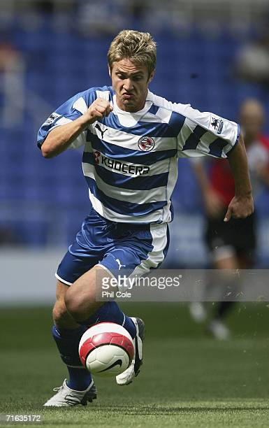 Kevin Doyle of Reading during a Pre Season Friendly Match between Reading and Feyenoord at the Madejski Stadium on August 12 2006 in Reading England