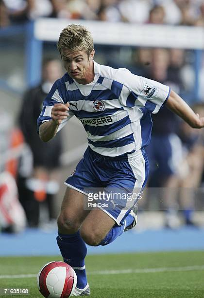 Kevin Doyle of Reading in action during a Pre Season Friendly Match between Reading and Feyenoord at the Madejski Stadium on August 12 2006 in...