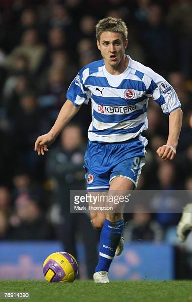 Kevin Doyle of Reading in action during the Barclays Premier League match between Aston Villa and Reading at Villa Park on January 12 2008 in...