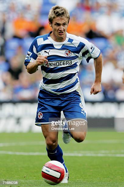 Kevin Doyle of Reading in action during the Barclays Premiership match between Reading and Middlesbrough at the Madejski Stadium on August 19 2006 in...