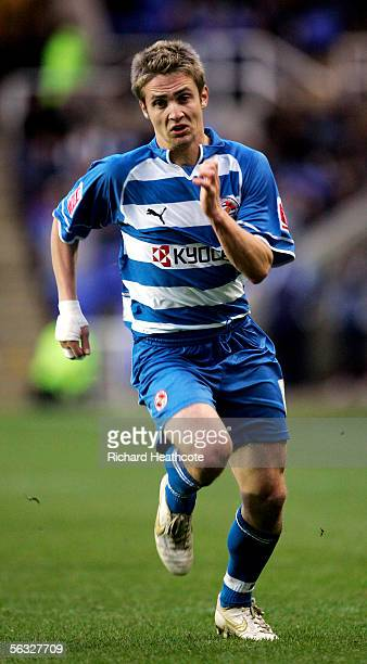 Kevin Doyle of Reading in action during the CocaCola Championship match between Reading and Luton Town at the Madejski Stadium on December 3 2005 in...