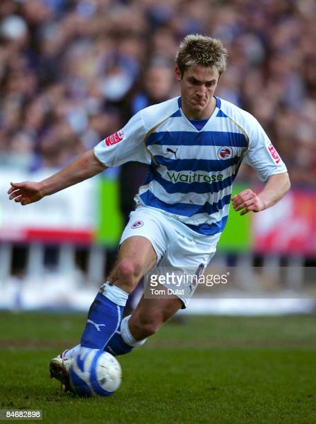Kevin Doyle of Reading in action during the CocaCola Championship match between Reading and Preston North End at the Madejski Stadium on February 07...