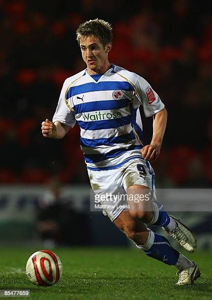Kevin Doyle of Reading runs with the ball during the CocaCola Championship match between Doncaster Rovers and Reading at the Keepmoat Stadium on...
