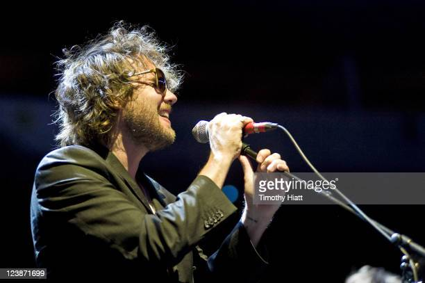 Kevin Drew of Broken Social Scene performs at the 2011 Bumbershoot Festival on September 4 2011 in Seattle Washington