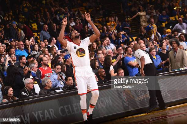 Kevin Durant 335 of the Golden State Warriors walks on the court before the game against the Los Angeles Clippers on January 28 2017 at ORACLE Arena...