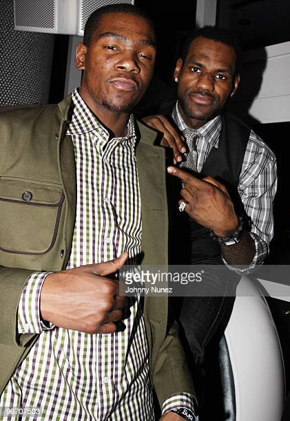 Kevin Durant and Lebron James attend the 4th Annual Two Kings Dinner on February 13 2010 in Dallas Texas