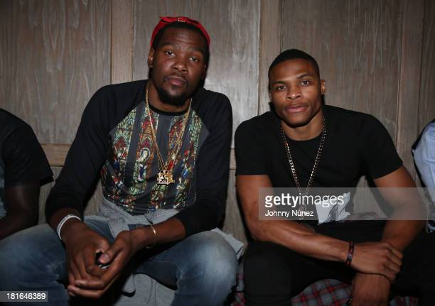 Kevin Durant and Russell Westbrook attend Kevin Durant's 25th Birthday Party at Avenue on September 22 2013 in New York City