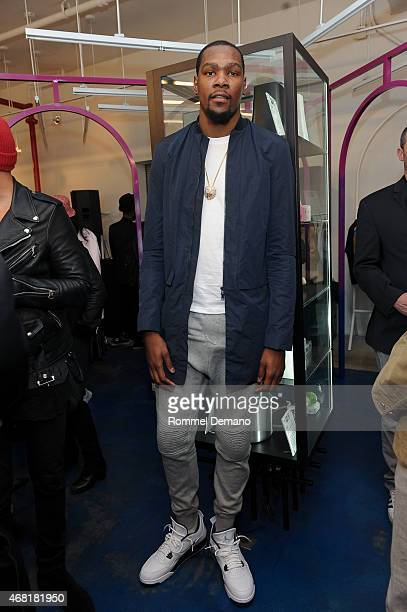 Kevin Durant attends Opening Ceremoy 'M$$ X WT' Launch Event at Opening Ceremony on March 30 2015 in New York City