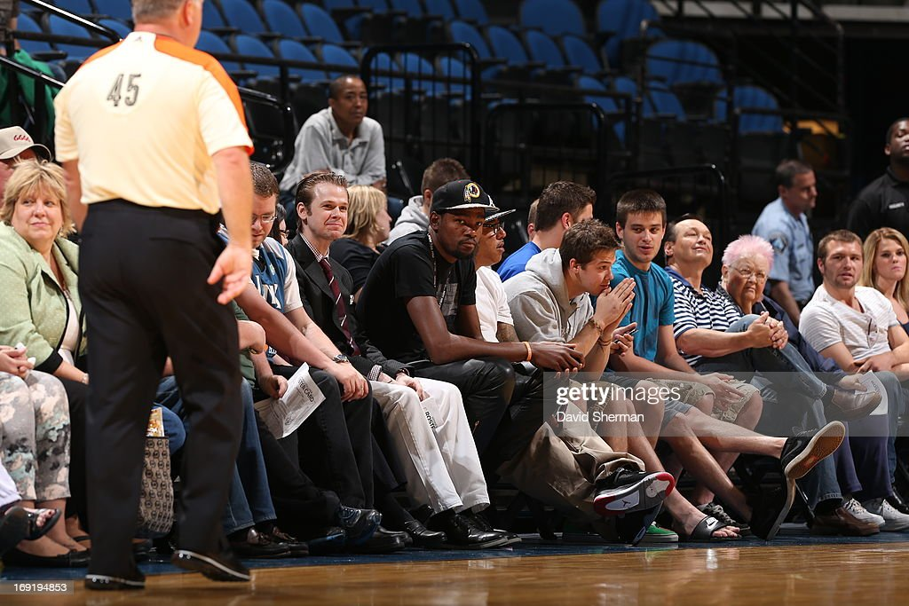 Kevin Durant court side during the WNBA pre-season game of the Minnesota Lynx vs. the Connecticut Sun on May 21, 2013 at Target Center in Minneapolis, Minnesota.