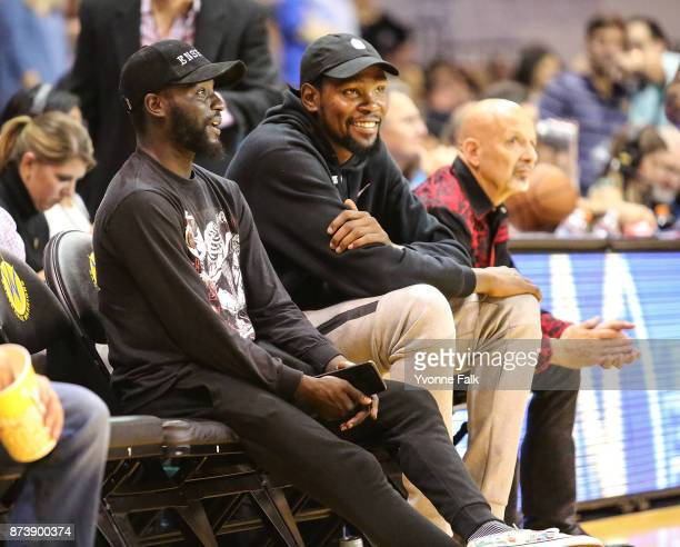 Kevin Durant of the Golden State Warriors attends the GLeague game between the Wisconsin Herd and the Santa Cruz Warriors on November 10 2017 at...