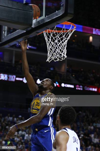 Kevin Durant of the Golden State Warriors in action during the game between the Minnesota Timberwolves and the Golden State Warriors as part of 2017...