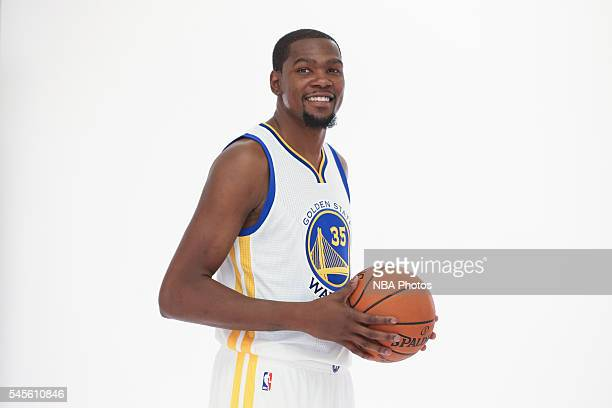 Kevin Durant of the Golden State Warriors poses for a portrait on July 7 2016 in Oakland California NOTE TO USER User expressly acknowledges and...