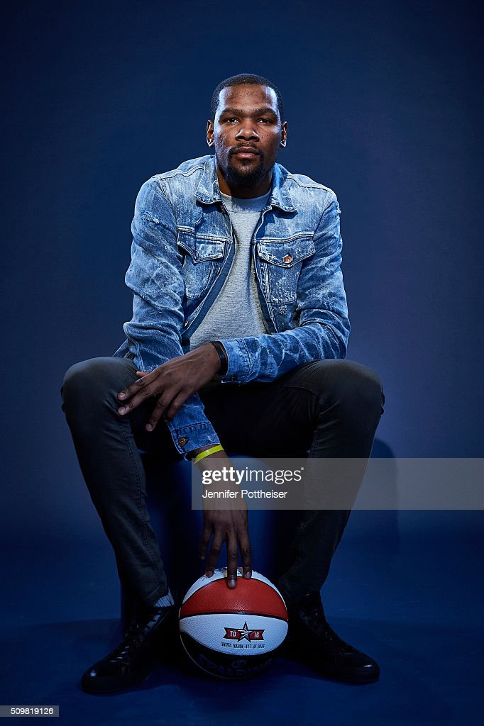 <a gi-track='captionPersonalityLinkClicked' href=/galleries/search?phrase=Kevin+Durant&family=editorial&specificpeople=3847329 ng-click='$event.stopPropagation()'>Kevin Durant</a> #35 of the Oklahoma City Thunder poses for a portrait during NBA All-Star Weekend on February 12, 2016 at the Sheraton Centre in Toronto, Ontario Canada.