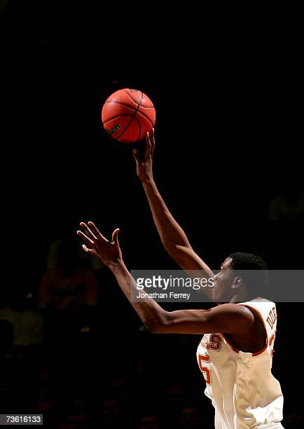 Kevin Durant of the Texas Longhorns puts up a jump shot against the New Mexico State Aggies during the first round of the NCAA Men's Basketball...