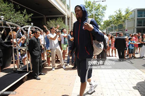 Kevin Durant of the USA Basketball Men's National Team arrives at Hotel Arts on July 20 2012 in Barcelona Spain NOTE TO USER User expressly...