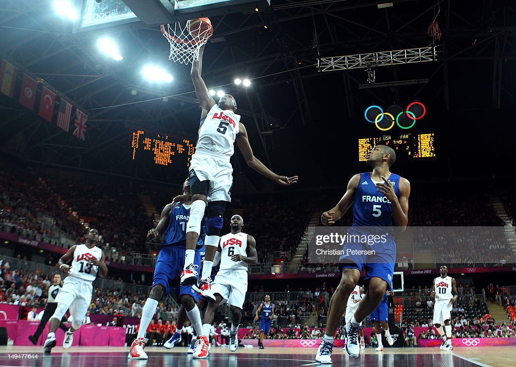 Game on day 2 of the london 2012 olympic games at the basketball arena